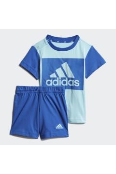ADIDAS GN3928 Set Completino Tshirt + Pantaloncini Blu Abbigliamento Bambino GN3928