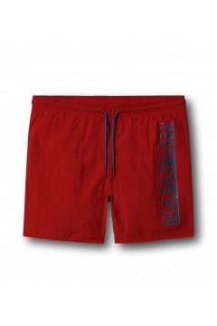 NAPAPIJRI NA4F9S Costume Mare Piscina Bagno Short Rosso Costumi da Bagno NA4F9SR