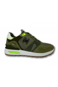 Navigare 115400 MORGAN Scarpe Uomo Sneakers Memory Foam Verde Sneakers NAM115400VRD