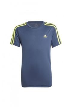Adidas GN1494 T-Shirt B 3S T Bambino Blu Giallo Abbigliamento Bambina GN1494