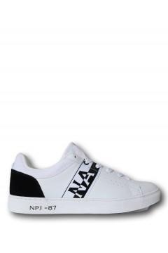 Napapijri NP0A4FKT01O1 Willow Pucn Sneakers Unisex Stringate White Black Francesine e Sneakers NP0A4FKT01O1