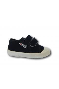 SUPERGA S21S366 Sneakers Bambini Doppio Strappo Canvas Blu Scarpe Bambino S21S366