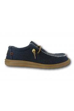 ROCCOBAROCCO RB318.4 Scarpe Uomo Mocassini Slip On Canvas Blu Sneakers RB3184BLU