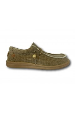 ROCCOBAROCCO RB318.1 Scarpe Uomo Mocassini Slip On Canvas Beige Sneakers RB3181BEI
