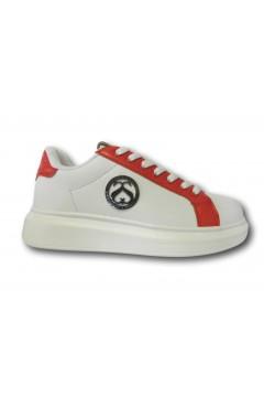 Solo Soprani PS3X Scarpe Donna Sneakers Stringate Bianco Rosso Francesine e Sneakers SSPS3XRSS