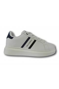 Solo Soprani QS20 Scarpe Uomo Sneakers Stringate Bianco Blu Sneakers SSQS20BB