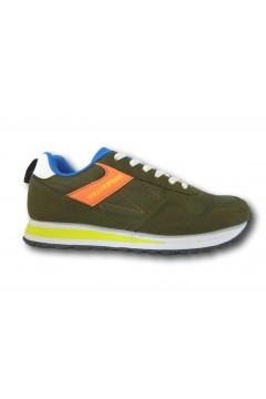 Solo Soprani QS10 Scarpe Uomo Sneakers Stringate Verde Sneakers SSQS10V
