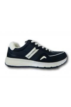 Solo Soprani JM05 Scarpe Uomo Sneakers Stringate Blu Sneakers SSJM05B