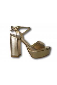 Solo Soprani VIR05 Scarpe Donna Sandali Tacco Alto Rosa Gold Sandali SSVIR05RS