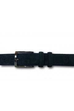 Made in Italy 035 Cintura Camoscio Uomo 3,5 cm in Vera Pelle Blu Cinture CTU035BLU