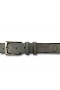 Made in Italy 035 Cintura Camoscio Uomo 3,5 cm in Vera Pelle Grigio Cinture CTU035GRG