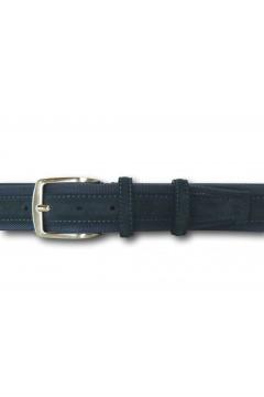 Made in Italy 040 Cintura Camoscio Uomo 4 cm in Vera Pelle Blu Cinture CTU040BLU