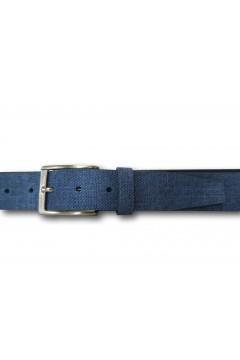 Akeis 1644 Cintura Uomo 3,5 cm in Vera Pelle Blu Cinture AKEIS1644BLU