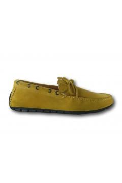 Akeis 602 Scarpe Uomo Mocassini Car Shoes Suede Giallo Mocassini A601GIA