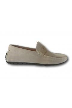 Akeis 601 Scarpe Uomo Mocassini Car Shoes Suede Sabbia Mocassini A601SAB