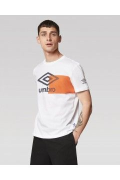 Umbro RAM265B T-Shirt Uomo con Logo e Stampa Geometrica Bianco T-Shirts RAM265BBIA
